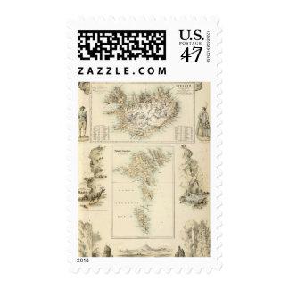 Danish Islands in the North Atlantic Ocean Postage Stamp