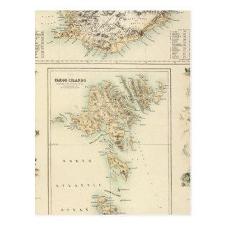 Danish Islands in the North Atlantic Ocean Postcard