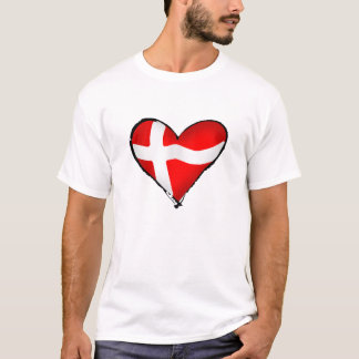 Danish love for Denmark fans worldwide T-Shirt