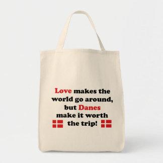 Danish - Love Makes Grocery Tote Bag