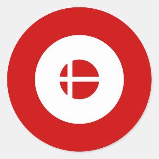 Danish Mod Round Sticker