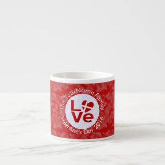 Danish or Dansk LOVE White on Red Dannebrog Espresso Cup