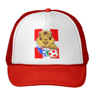 Danish or Swiss African Soccer Lion Cap