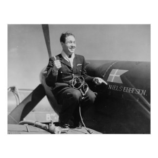 Danish RAF Pilot Poster