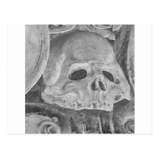 Danish Skull In White & Black Postcard