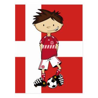 Danish Soccer Boy Postcard