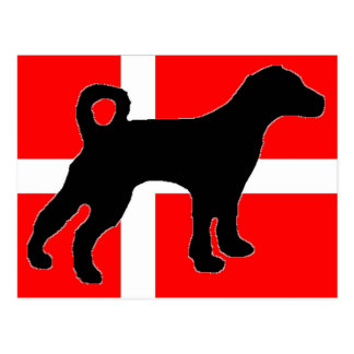 danish swedish farmdog denmark-flag.jpg postcard