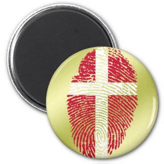 Danish touch fingerprint flag 2 inch round magnet