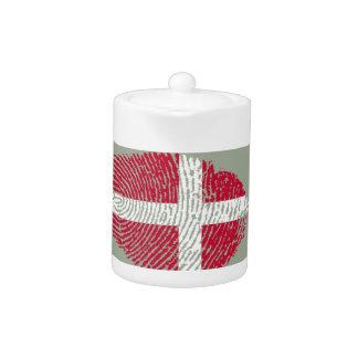 Danish touch fingerprint flag teapot