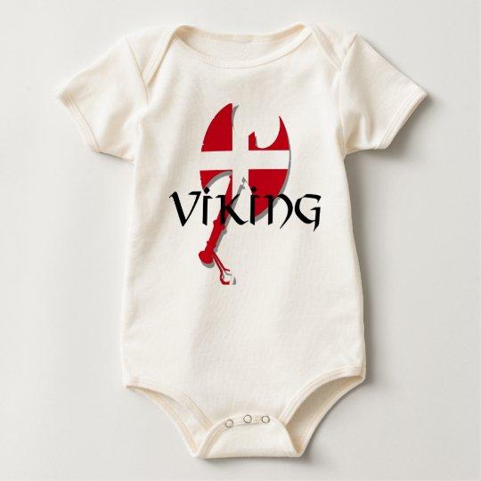 Danish Viking Denmark flag Axe Baby Bodysuit