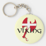 Danish Viking Denmark flag Axe Keychains