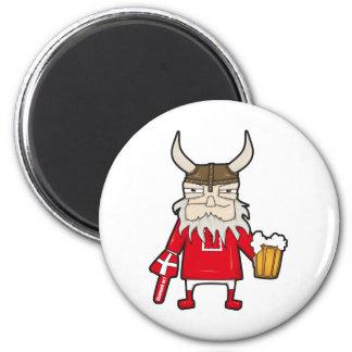 Danish Viking Fan 2 Inch Round Magnet