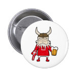Danish Viking Fan Pinback Button