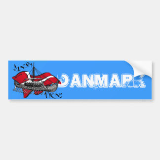 Danish Viking Ship cultural gifts of Denmark Bumper Sticker