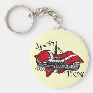 Danish Viking Ship cultural gifts of Denmark Keychain