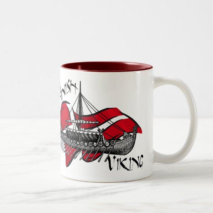Danish Viking Ship Cultural Gifts Of Denmark Two Tone Coffee Mug Zazzle Com
