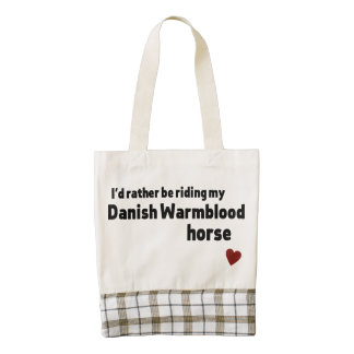 Danish Warmblood horse Zazzle HEART Tote Bag