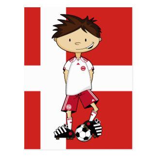 Danish World Cup Soccer Boy Postcard