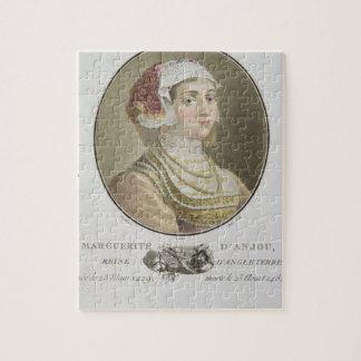 d'Anjou de la margarita (1429-82) grabado por el p Rompecabezas