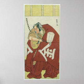 Danjuro in the role of Sakatano Kintoki Poster