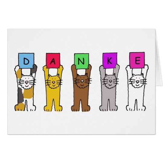 Danke cats saying thanks in german card zazzle danke cats saying thanks in german card stopboris Image collections