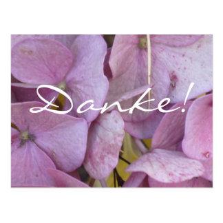 Danke Hortensia pink - Postkarte