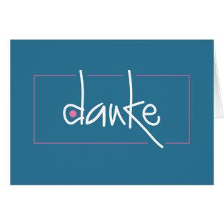 Danke le agradece en cualquier tarjeta de nota de