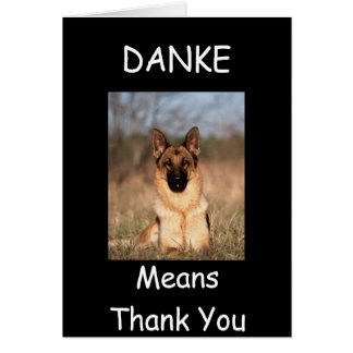 """DANKE MEANS THANK YOU"" GREETING CARDS"