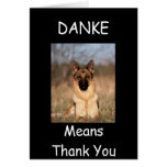 """""""DANKE MEANS THANK YOU"""" GREETING CARDS"""