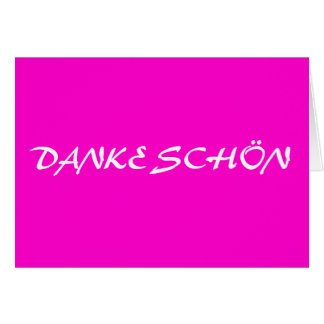 DANKE SCHÖN GREETING CARD