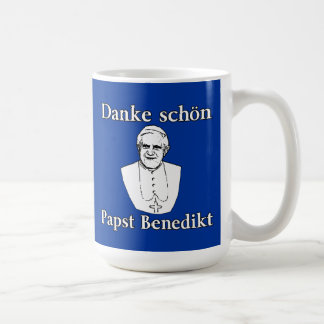 Danke Schon Pope Benedict Coffee Mug