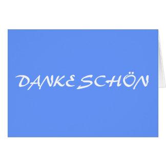 DANKE SCHÖN STATIONERY NOTE CARD