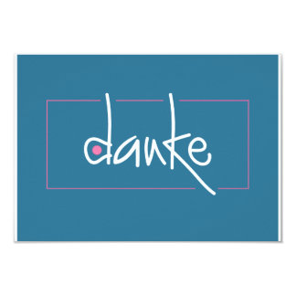 Danke Small Enclosure Card for gifts Personalized Invites