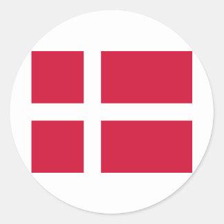Danmark Flag Round Sticker