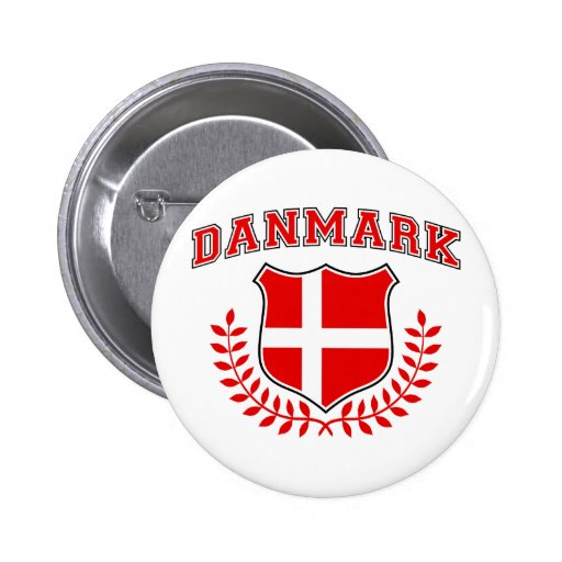 Danmark Pin Redondo 5 Cm