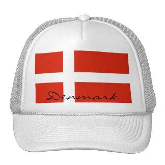 Dannebrog, bandera nacional de Dinamarca Gorras