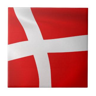 Dannebrog - la bandera danesa tejas  cerámicas
