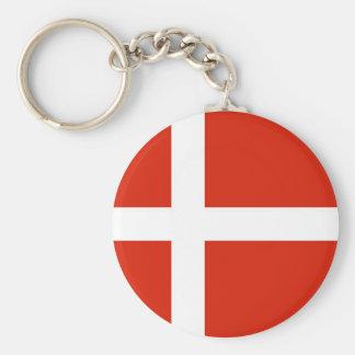 Dannebrog; La bandera oficial de Dinamarca Llavero Redondo Tipo Pin