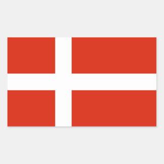 Dannebrog; La bandera oficial de Dinamarca Pegatina Rectangular