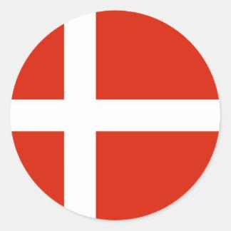 Dannebrog; La bandera oficial de Dinamarca Pegatina Redonda