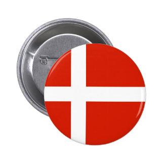 Dannebrog; La bandera oficial de Dinamarca Pin Redondo De 2 Pulgadas