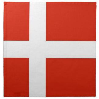 Dannebrog; La bandera oficial de Dinamarca Servilleta Imprimida