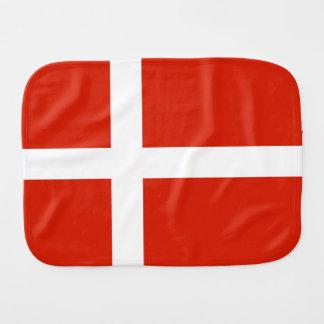 Dannebrog; The Official Flag of Denmark Baby Burp Cloth