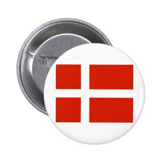 Dannebrog; The Official Flag of Denmark Pinback Buttons