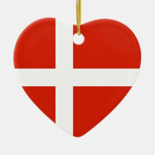 Dannebrog; The Official Flag of Denmark Ceramic Ornament
