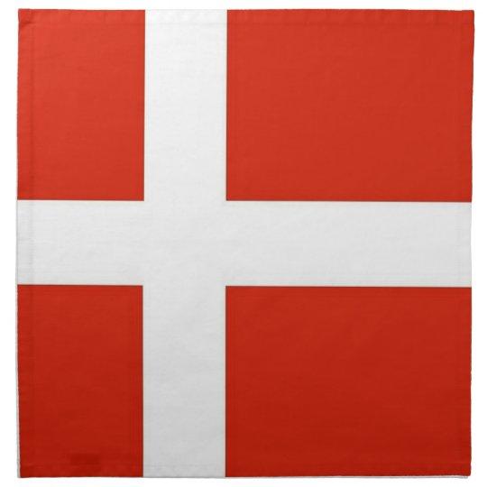 Dannebrog; The Official Flag of Denmark Cloth Napkin