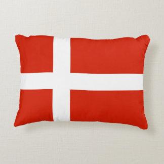 Dannebrog; The Official Flag of Denmark Decorative Pillow