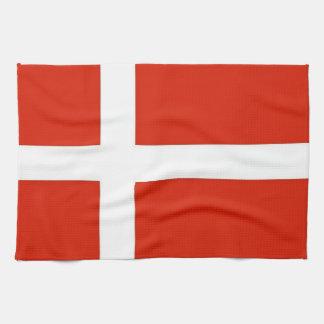 Dannebrog; The Official Flag of Denmark Kitchen Towel