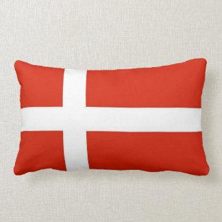 Dannebrog; The Official Flag of Denmark Lumbar Pillow