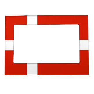 Dannebrog; The Official Flag of Denmark Magnetic Picture Frame